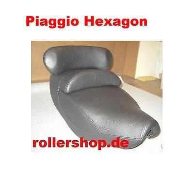 Sitzbank-Bezug für Piaggio Hexagon, 3 Teile, Handgenäht in Deutschland