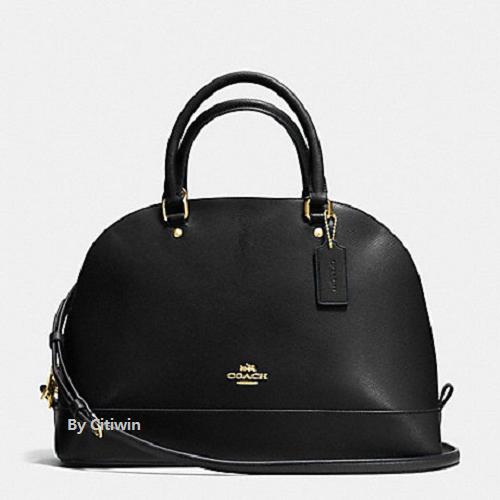 Coach F57524 Crossgrain Leather Sierra Large Satchel Handbag Black ...