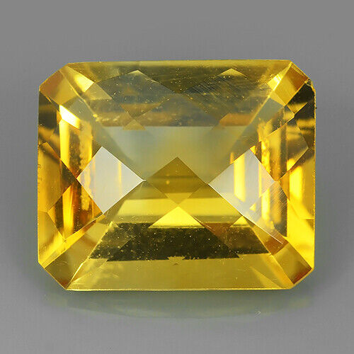 4.96 CTS SPARCLING NATURAL CITRINE OCTAGON SHAPE -REF VIDEO