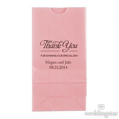 50 Thank You For Sharing Personalized Printed Wedding Favor Bags Candy Buffet](Candy Favor Bags For Candy Buffet)