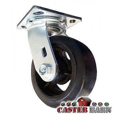 6 X 2 Dumpster Swivel Caster - Mold-on-rubber Wheel - 550 Lb Capacity