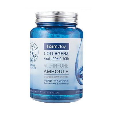 [FARM STAY] Collagen & Hyaluronic Acid All In One Ampoule - 250ml / Free Gift
