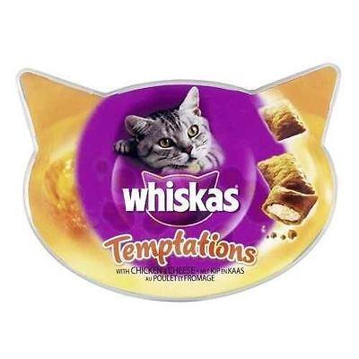 Whiskas Temptations - Chicken & Cheese Cat Treats - 1 x 60g