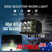 2x 40W Cree LED Floodlight Side Shot Kit 4wd Off Road work light Bayswater North Maroondah Area Preview