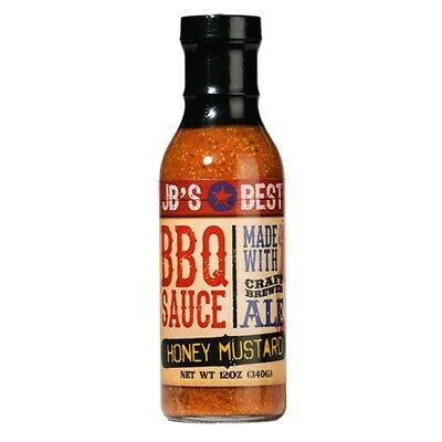 JB's Best All Natural Beer-Infused BBQ Sauce - Honey Mustard (14