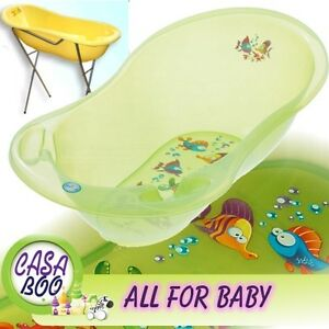 aqua lux large baby bath tub with stand thermometer. Black Bedroom Furniture Sets. Home Design Ideas