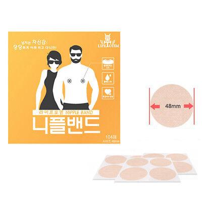 48mm Nipple Band Cover Sticker Men Women Gentle Patch Pad Hide 104Pcs X 10 box