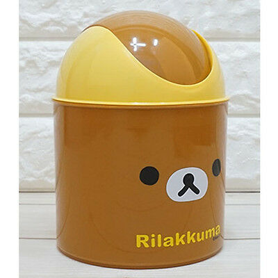 Rilakkuma Mini Push Trash Can Cute Waste Basket Interior Kids Living Bath Room