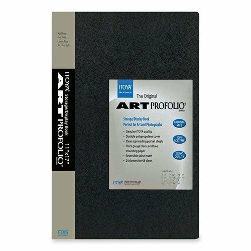 ITOYA Art Profolio 8x10 IA-12-7 Storage Display Album, 24 Shts/Holds 48 Prints