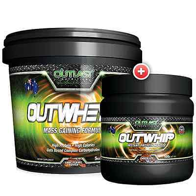OUTLAST NUTRITION Outwheyd 4.5KG Mass Gain + Outwhip Whey Protein Mousse