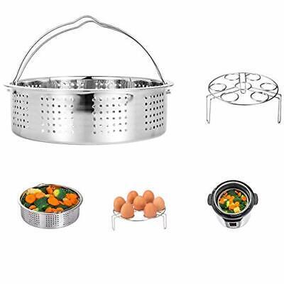 HapWay Stainless Steel Steamer Basket with Egg Steam Rack Tr