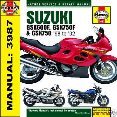 Suzuki GSX600 GSX750 GSX750F 1998-2002 Haynes Manual 3987 NEW