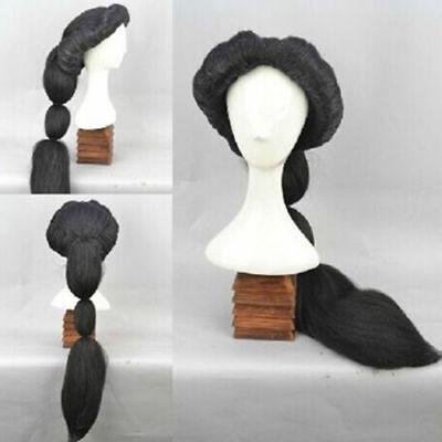 Disney Arabian Nights MAGI Aladdin Princess Jasmine Fluffy Black Cosplay Wig ](Aladdin Wig)