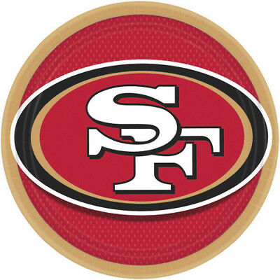 NFL SAN FRANCISCO 49ers LARGE PAPER PLATES (8) ~ Birthday Party Supplies Dinner ()