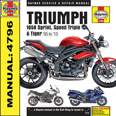 Triumph 1050 Speed Triple R Tiger Sport SE 2005-2013 Haynes Handbuch 4796 NEU