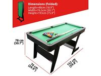 5ft sturdy folding pool table BRAND NEW BOXED UNOPENED