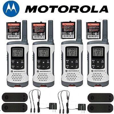 Motorola Talkabout T260 Walkie Talkie 4 Pack 25 Mile Range 2 way NOAA Radio