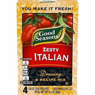 Good Seasons Zesty Italian Salad Dressing & Recipe Mix 0.6 oz Envelopes, 4 Pack