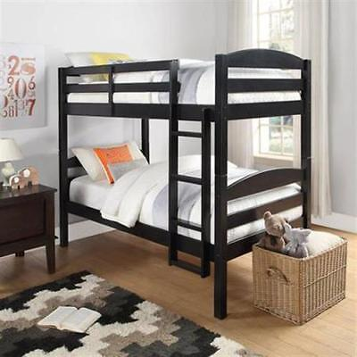 Bunk Beds Twin Over Twin Kids Furniture Bedroom Ladder Wood ConMultiple Finishes