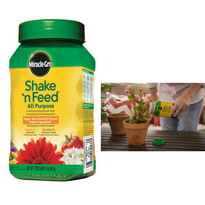 Feed All Purpose Plant Food - Miracle-Gro Shake N Feed All Purpose Continuous Release Plant Food 1-lb