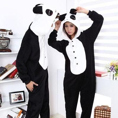 Panda Costume Adult (Hot Unisex Adult Pajamas Kigurumi Cosplay Costume Animal Sleepwear)