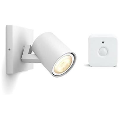 PHILIPS Hue Faretto Singolo LED White Ambiance GU10 Potenza 5.5W + Hue Sensore d