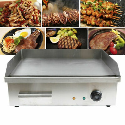 22 1500w Electric Countertop Griddle Flat Top Restaurant Commercial Grill Bbq
