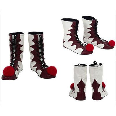 Es Stephen King es 2017 Film Pennywise Cosplay Das Clown Schuhe Stiefel Schuhe D (Es Clown Kostüm Pennywise)