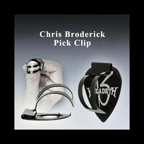 Chris Broderick Pick Clip - Holds your pick to your thumb. Rt OR Left Hand!