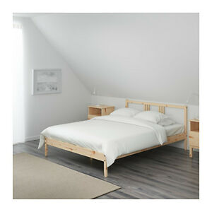 Ikea bed frame, mattress and pad