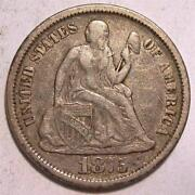 1875 Seated Liberty Dime