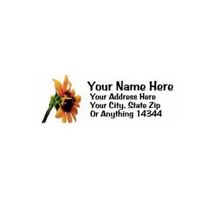 Sunflower Design Personalized Address Labels 30pcs-free Us Shipping