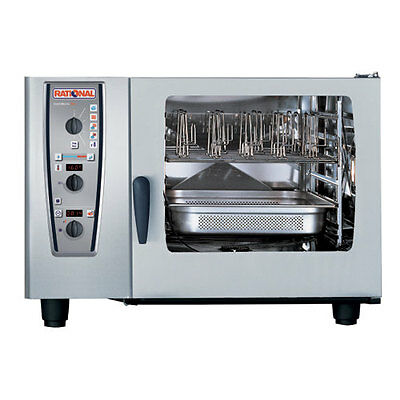 Rational Model 62 A629106.43.202 Electric Combi Oven With Six Full Size Sheet P