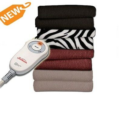 Sunbeam Electric Throw Blanket Heated Fleece Warming Blanket