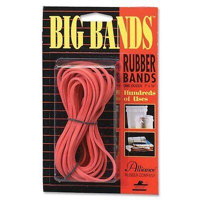 Alliance Rubber Big Rubber Bands - 7 Length X 0.13 Width - Biodegradable - 12