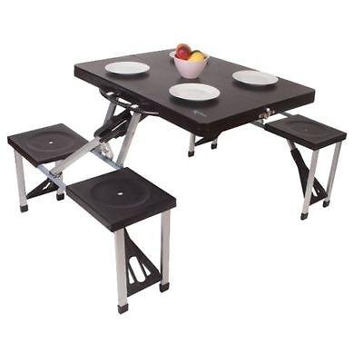 Kampa Camp/Camping Caravan Happy Folding Picnic Table And Chair Set