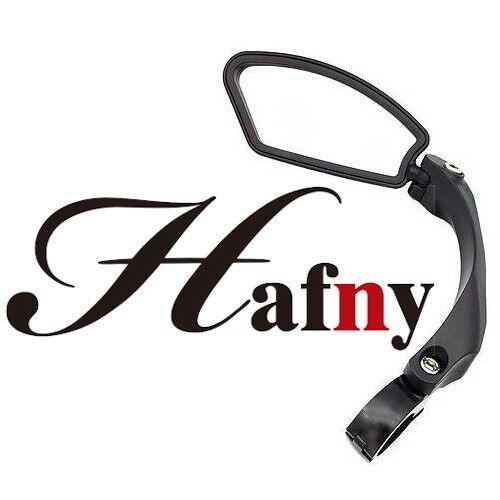Hafny HF-M800L-FR01 Bike Handlebar Adjustabl Clamp-On Rise Mirror Stainless Lens