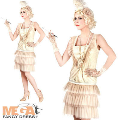 20s Flapper Girl Ladies Fancy Dress 1920s Charleston Gatsby Adult Costume - Girl Gangster Outfit