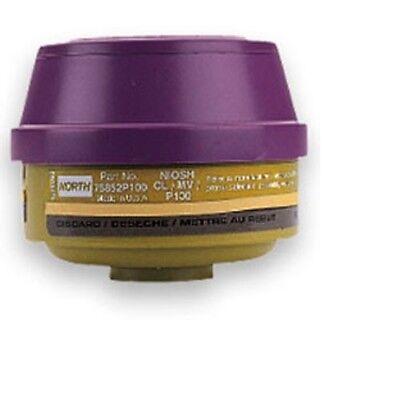 North Safety by Honeywell 75852P100 Mercury Vapor & Chlorine Filter Cartridge