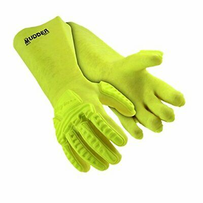 The Mudder Impact Protection Liquid Resistance Safety Gloves Hex Armor Medium