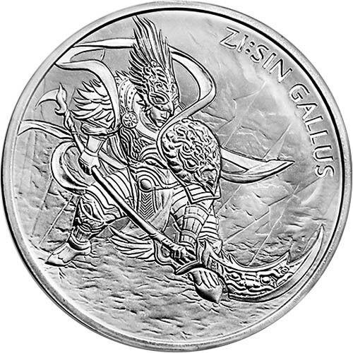 2017 South Korea Zi:Sin Gallus 1 oz .999 Silver Medal (in air-tite capsule)