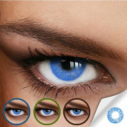 Farbige Kontaktlinsen Naturally Sweet Blue (Stärke von +5.00 DPT bis -12.00 DPT)
