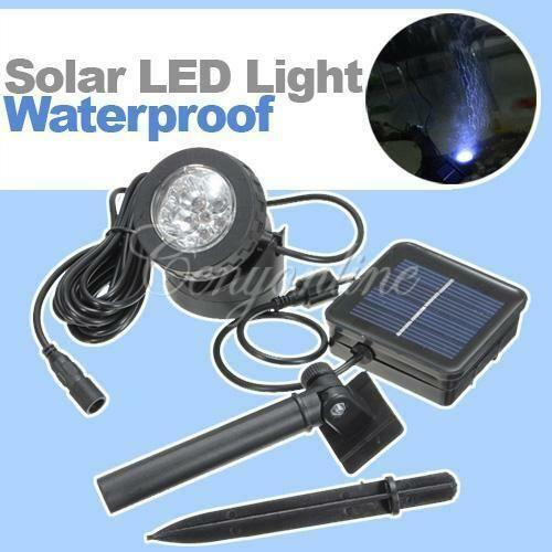 Solar Pond Lights Ebay