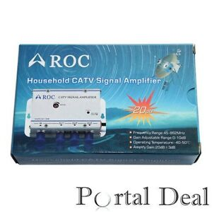 CABLE-TV-CATV-AMPLIFIER-SHAW-SIGNAL-BOOSTER-UHF-VHF-DVR
