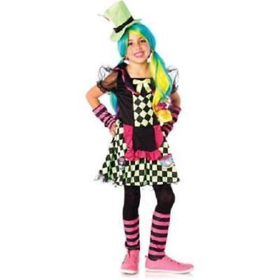 WONDERLAND Girls Tea Cup Mad Hatter Complete Costume  Medium 8-10 - Cup Kostüm Halloween