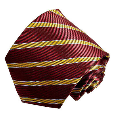 men's gold and burgundy stripped tie with hanky