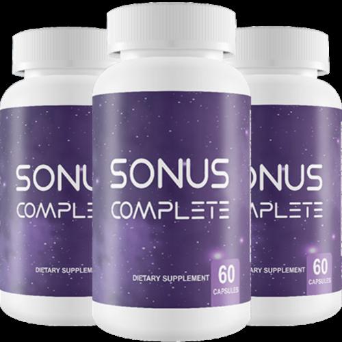 BRAND NEW Sonus Complete Tinnitus Relief Supplement, 180 Capsules (3 BOTTLE)