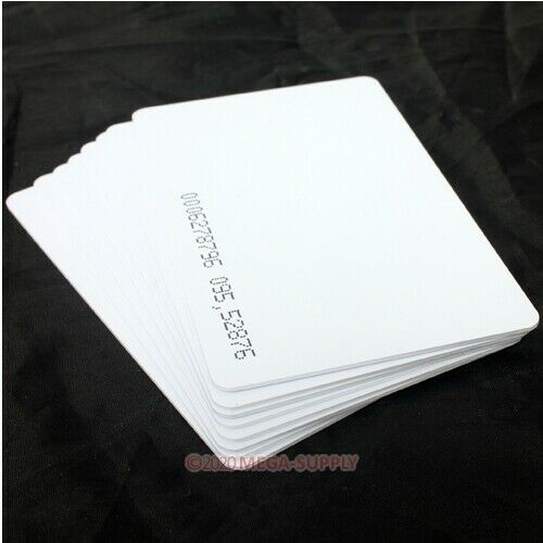 100pcs125K RFID Proximity ID Card 0.8mm For Access Control Time Clock Use