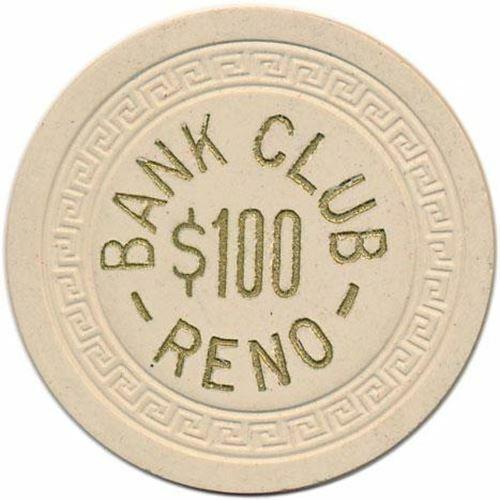 Bank Club Casino Reno NV $100 Chip 1951
