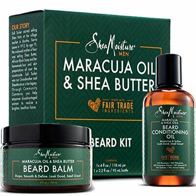 Shea Moisture Beard Oil & Balm Grooming Kit For Men, Org